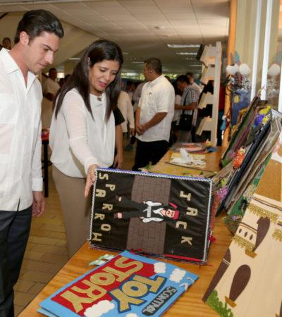 Benefician a más de 3 mil alumnos con programa que da impulso a la educación y a la lectura en Cancún