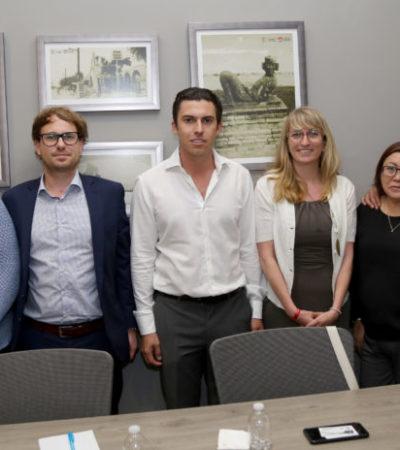 Reunión del Alcalde con touroperadores mayoristas y ejecutivos de la aerolínea TUI para hablar sobre la seguridad en Cancún y la Riviera Maya