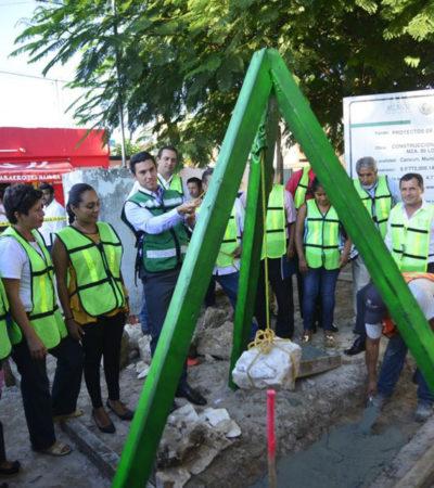 Con inversión de más de 5.7 mdp, inician construcción de cancha de futbol en la Región 91