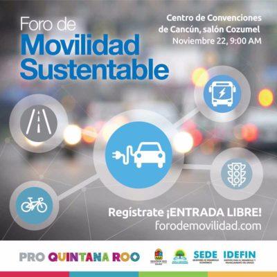 Mañana, foro de movilidad sustentable en Cancún