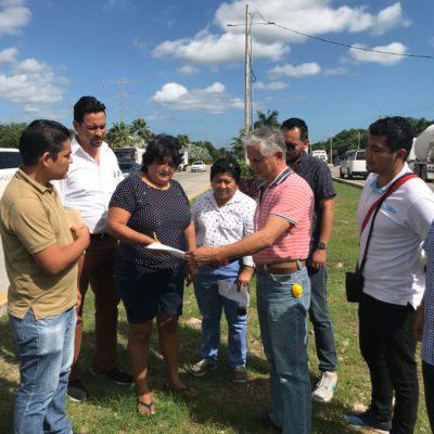 Supervisan contralores ciudadanos 10 obras del Ayuntamiento de Solidaridad