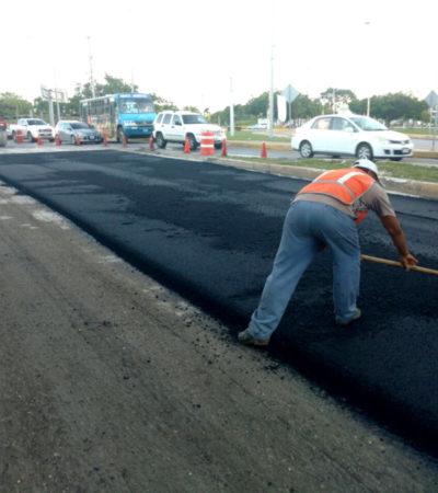No se han frenado los trabajos de pavimentación de calles en Cancún, asegura Alcalde