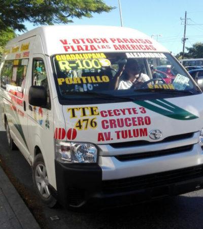 GOLPE AL BOLSILLO DE CIUDADANOS DE A PIE: Al amparo de Sintra, aumenta TTE tarifa de transporte en Cancún