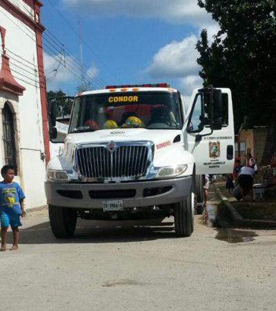Reciben agua en pipas en Tihosuco ante falta del líquido desde hace una semana