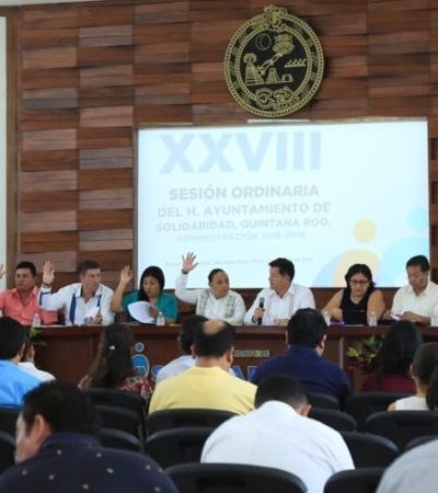 Aprueba Cabildo descuentos en el pago del impuesto predial para solidarenses