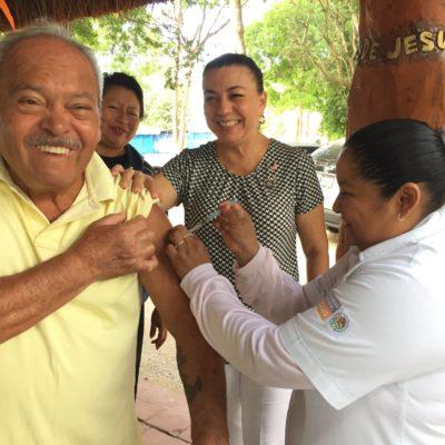 Ante el descenso de la temperatura, implementan jornadas gratuitas de vacunación contra la influenza entre adultos mayores y niños, los más vulnerables a los males respiratorios
