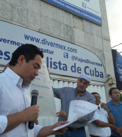 A una semana del cierre de la Avenida Cobá por protesta contra la SEIDO, pide diputado Toledo a usuarios de FNS liberar vialidades