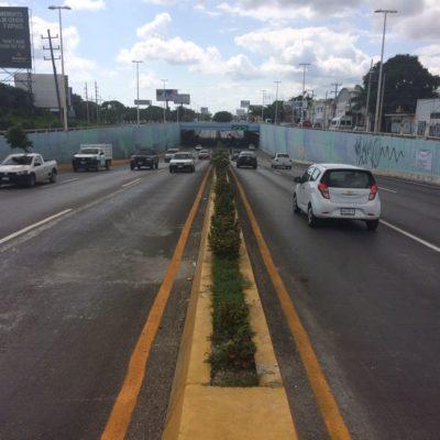 Reabren totalmente los seis carriles del paso a desnivel del Bulevard Colosio de Cancún