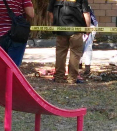 ACTUALIZACIÓN | AÚN NO DETERMINAN SEXO DE OSAMENTA: Confirman hallazgo de 34 piezas de restos humanos en parque de la SM 59 de Cancún