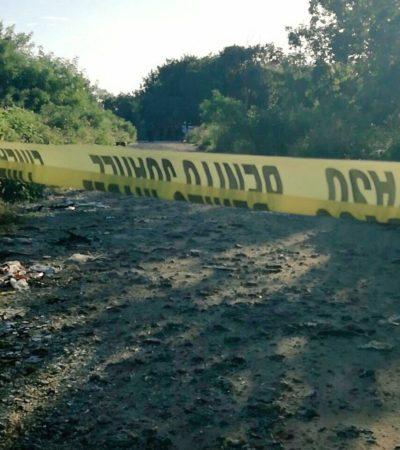 EJECUTADO EN LA COLONIA 'EL JORDÁN' DE CANCÚN: Hallan cuerpo de una persona baleada en las inmediaciones del Arco Vial