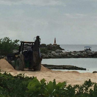 """""""MÁS VALE PEDIR PERDÓN QUE PEDIR PERMISO"""": Relleno ilegal de playa en Puerto Aventuras"""