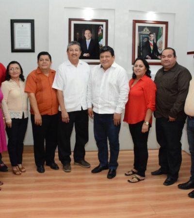 Recibe Alcalde de OPB a su homólogo de San Pedro Belice para fortalecer relación de vecinos