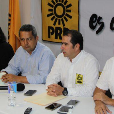 Entrega PRD carta intención de coalición al PES y Nueva Alianza