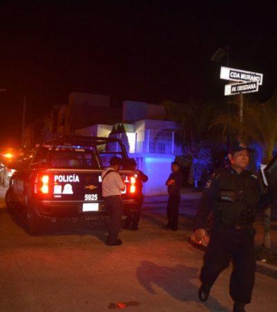 Lanzan disparos contra vivienda en Fraccionamiento La Joya de Cancún