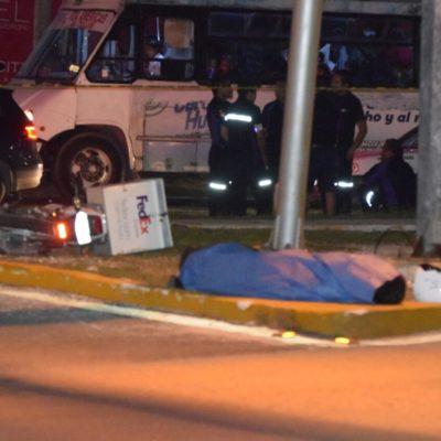 Atropellan y muere mensajero de la empresa FedEx en Cancún