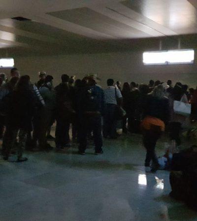 Se queda sin luz la recién inaugurada y moderna Terminal 4 del aeropuerto internacional de Cancún