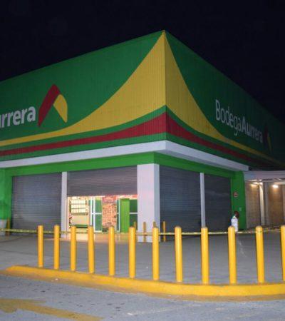 Confirman detención de 2 implicados en el asalto a Bodega Aurrerá el lunes en Cancún.