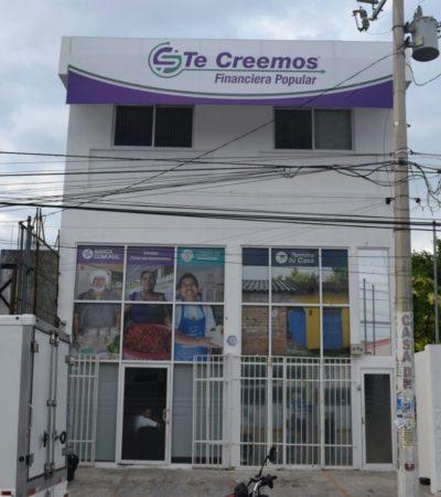 Asaltan a punta de pistola, a financiera 'Te Creemos' en la SM 91 de Cancún