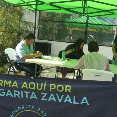 Piden apoyo para Margarita Zavala, en módulos fijos e itinerantes