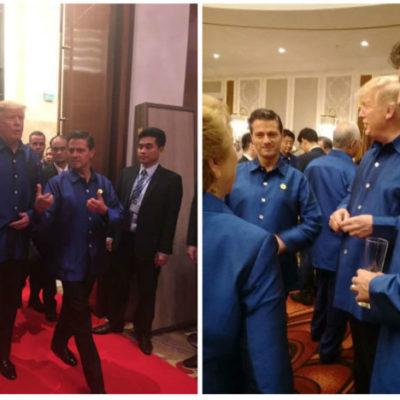 Encuentro informal entre Trump y Peña Nieto durante reunión de la APEC en Vietnam