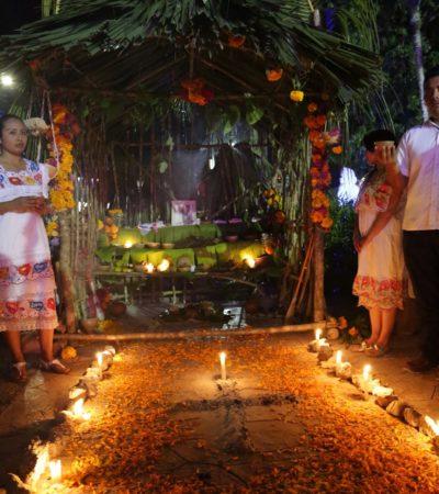 Gana concurso de altares 'Hanal Pixan' la dirección de Obras Públicas de Tulum