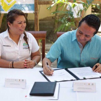 Con presupuesto tripartita, se reparará camino a Punta Allen, anuncia Carlos Joaquín