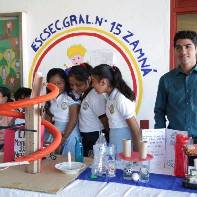 Inaugura escuela Zamná Semana de Ciencia y Tecnología