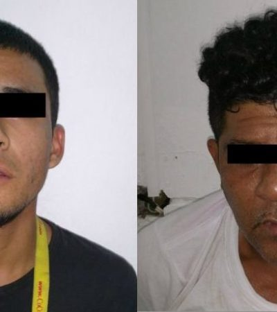 Detienen a dos sujetos con arma en un taxi en la SM 69 de Cancún