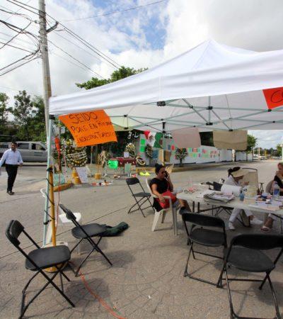 Lamenta el CCE el 'perjudicial' cierre de más de una semana de la Avenida Cobá en Cancún por protesta contra la SEIDO