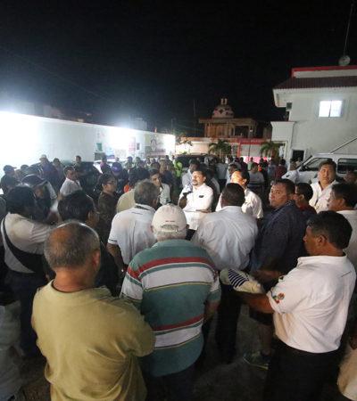 Protestan 'martillos' de Cozumel; sindicato amenaza con expulsarlos