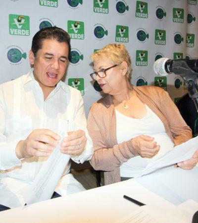 """""""LOS LIDERAZGOS NO SE IMPONEN"""": Reelección de Remberto y Laura depende de la militancia, dice Carlos Puente, líder nacional del PVEM"""