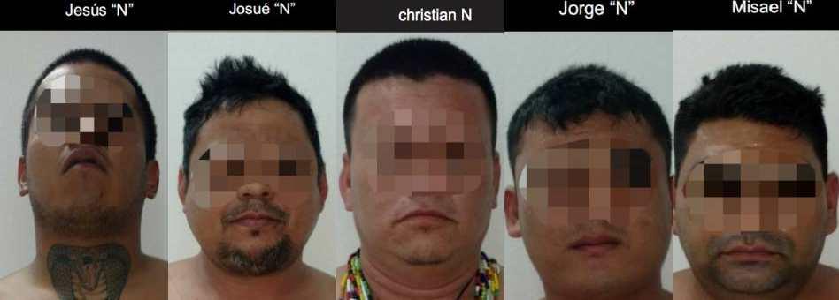 Encarcelan a los cinco detenidos con armas el pasado viernes en Cancún; serían del grupo de 'Doña Lety' y podrían salir bajo fianza