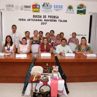 Entre el 8 y 17 de diciembre se realizará la Feria Nacional Artesanal Navideña Tulum 2017