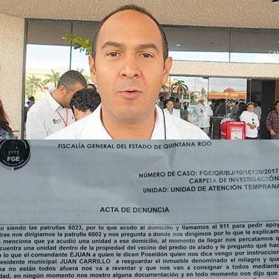 INTERPONEN DENUNCIA PENAL CONTRA JUAN CARRILLO: Denuncian particulares 'obstrucción de la justicia' y 'abuso de poder'; niega comuna que policías resguarden predios particulares