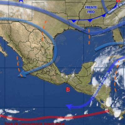 PRONÓSTICO DEL CLIMA: Zona de inestabilidad provoca fuertes lluvias en la península de Yucatán