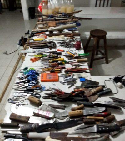 MONTAN 'FERRETERÍA' EN LA CÁRCEL DE CANCÚN: Decomisan droga, martillos, jeringas y varillas
