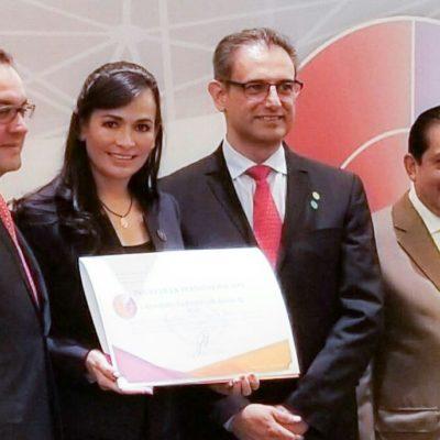 Dan reconocimiento del INAFED a Alcaldesa por encabezar un gobierno transformador en Puerto Morelos
