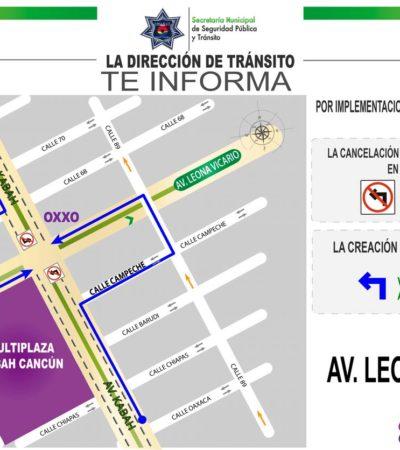 Continuará programa 'Vuelta a la Izquierda', ahora sobre la avenida Leona Vicario y Niños Héroes