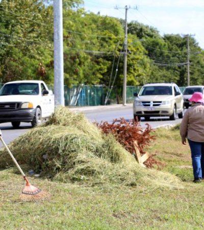 Implementan nuevo programa de limpieza en colonias y regiones de Cancún