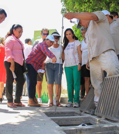Construyen 20 nuevos pozos de absorción en Puerto Morelos con inversión de 3 mdp