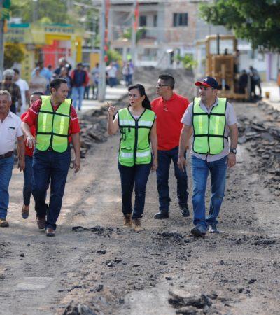 Rumbo al cierre del 2017, aseguran que atrás quedaron años de olvido en obra pública en Puerto Morelos