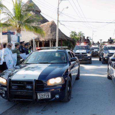 Dan banderazo de inicio del operativo vacacional de invierno en Puerto Morelos