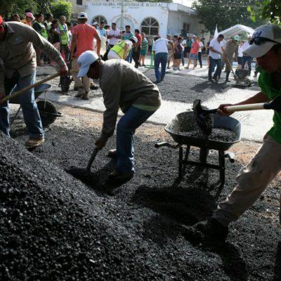 Mantienen programa permanente de bacheo en Puerto Morelos