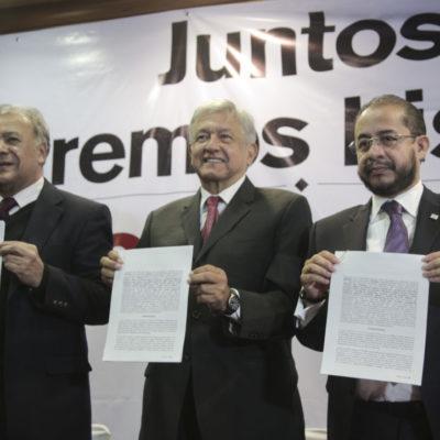 Confirma Morena alianza con PT y PES; a nivel Quintana Roo significa coalición con 'El Chacho' Zalvidea y Greg Sánchez
