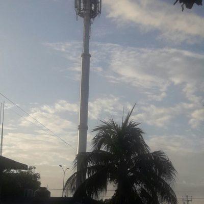 Detienen a tres por daños a torre de Telcel en Chetumal