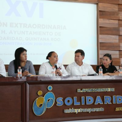 Aprueba Cabildo de Solidaridad presupuesto de Egresos 2018