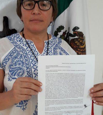 Renuncia Laura Beristain al PRD