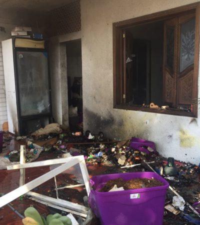 Se incendia casa en Isla Mujeres; vendían pirotecnia