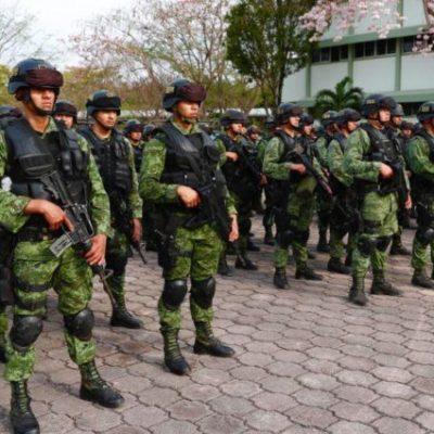Arriban militares a Chetumal para reforzar seguridad en Quintana Roo