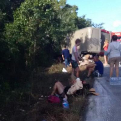 Apunta accidente de turistas en Mahahual a falta de precaución y excesiva velocidad